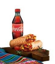 Tortilla z kurczakiem + Coca-Cola 0,5l