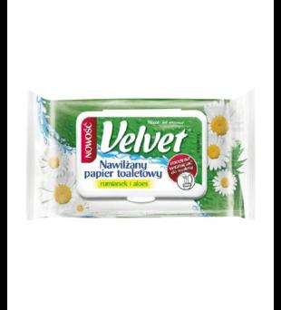 Nawilżany papier toaletowy Velvet