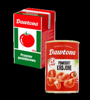 Pomidory, przecier pomidorowy Dawtona