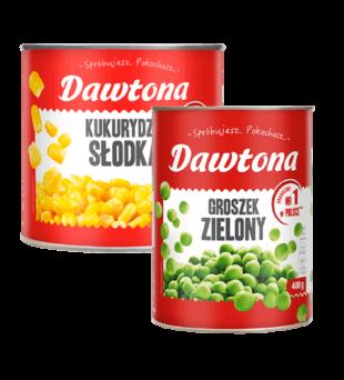 Groszek, kukurydza Dawtona