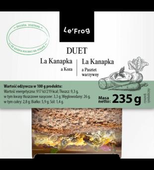 DUET: La Kanapka a koza/La kanapka a pasztet warzywy