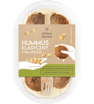 Hummus klasyczny z falafelem