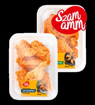 Polędwiczki, skrzydełka, nuggetsy panierowanie w sosie Szamamm