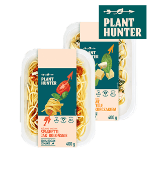 Spaghetti jak bolońskie, tagliatelle jak z kurczakiem Plant Hunter