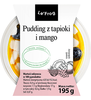 Pudding z tapioki i mango