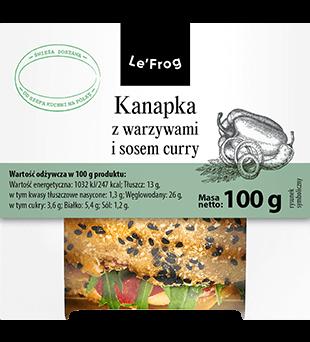 Kanapka z warzywami i sosem curry