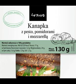 Kanapka z pesto, pomidorami i mozzarellą