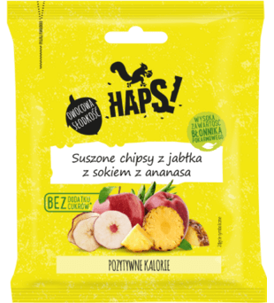 Haps Suszone chipsy z jabłka z sokiem z ananasa