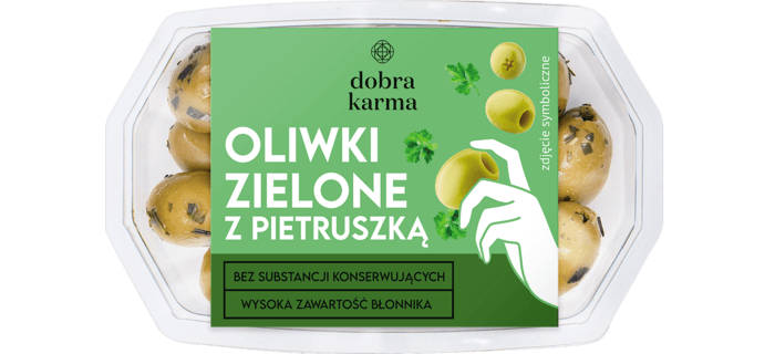 Oliwki zielone z pietruszką